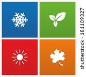 illustration of seasons | Shutterstock . vector #181109327