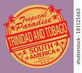 grunge rubber stamp or label... | Shutterstock .eps vector #181121663