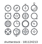 different web icons set... | Shutterstock .eps vector #181124213