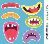 ve,kabin,portre,kolaj,diş hekimi,ifade,yüz bakımı,gülüyor,dudaklar,canavar,ağız,resim,fotoğraf,oyun,kapat