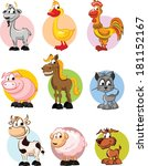 set of  domestic animals  ... | Shutterstock .eps vector #181152167