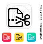cut file icon.