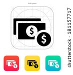dollar banknote and coin icon.