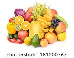 fruit and vegetable isolated on ... | Shutterstock . vector #181200767