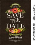 save the date  wedding... | Shutterstock .eps vector #181222343