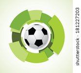 football sign. soccer ball....