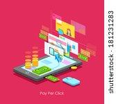 illustration of pay per click... | Shutterstock .eps vector #181231283