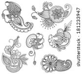 set of embroidery patterns   Shutterstock .eps vector #181233947
