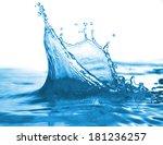 water splash and bubbles....   Shutterstock . vector #181236257