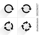 4 black arrow rotation  loop... | Shutterstock .eps vector #181236317