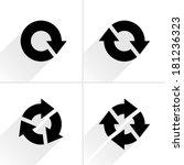 4 black arrow refresh  reload ... | Shutterstock .eps vector #181236323