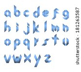 spectral letters folded of... | Shutterstock .eps vector #181263587