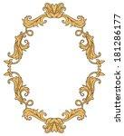 vintage ornament frame in retro ... | Shutterstock .eps vector #181286177