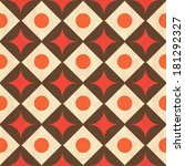 retro seamless geometric pattern   Shutterstock .eps vector #181292327