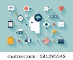 flat design style modern vector ... | Shutterstock .eps vector #181295543