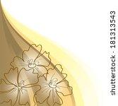 floral background. | Shutterstock .eps vector #181313543