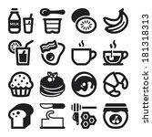 bacon,bakery,banana,black,blueberries,bread,breakfast,butter,chocolate,coffee,cream,crepes,croissant,dairy,design