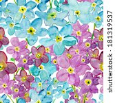 forget me not flowers seamless... | Shutterstock . vector #181319537