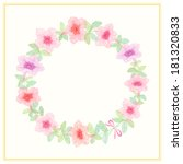 round frame with summer flowers  | Shutterstock .eps vector #181320833