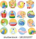 vector illustration of baby... | Shutterstock .eps vector #181331057