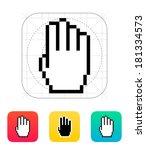 four fingers. pixel hand cursor ...