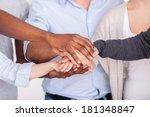 sea of hands. close up of...   Shutterstock . vector #181348847