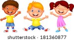 happy kid cartoon | Shutterstock . vector #181360877