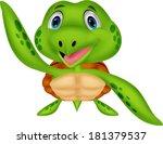 cute sea turtle cartoon   Shutterstock . vector #181379537