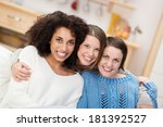happy multiethnic group of... | Shutterstock . vector #181392527