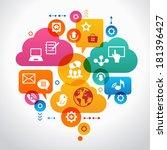 social media concept.     ... | Shutterstock .eps vector #181396427