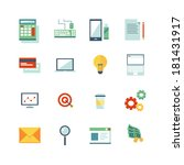 a set of varied business icons.  | Shutterstock .eps vector #181431917