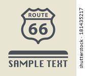 route 66 icon or sign  vector... | Shutterstock .eps vector #181435217