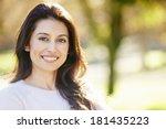 portrait of attractive hispanic ... | Shutterstock . vector #181435223