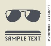 sunglasses icon or sign  vector ... | Shutterstock .eps vector #181436447