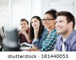 education concept   students... | Shutterstock . vector #181440053