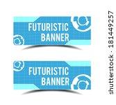 futuristic banner   Shutterstock .eps vector #181449257