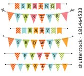 banner  bunting or swag... | Shutterstock .eps vector #181464533