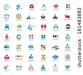 unusual icons set   isolated on ... | Shutterstock .eps vector #181483883