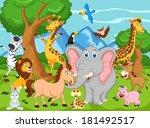 funny animal cartoon  | Shutterstock . vector #181492517