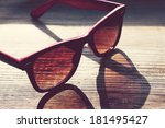 black and red vintage... | Shutterstock . vector #181495427