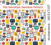 flat education seamless pattern | Shutterstock .eps vector #181517237