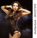 young striptease dancer | Shutterstock . vector #181527293