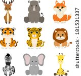 collection of wild animals | Shutterstock . vector #181531337