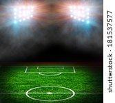 soccer field with projectors | Shutterstock . vector #181537577