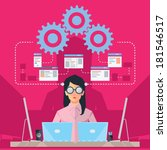 female software engineer | Shutterstock .eps vector #181546517