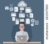 creating a report | Shutterstock .eps vector #181547003