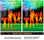 barbecue party | Shutterstock .eps vector #181555697