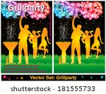 barbecue party set | Shutterstock .eps vector #181555733