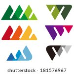 Design Mountain Logo Element....