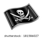 pirate flag icon  isolated on... | Shutterstock . vector #181586027